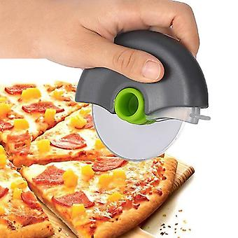 Pizza Cutter Rundt Hjul Rustfritt Stål Cutting Knife for Pizza med Lokk Roulette Roller Dough Pizza Slicer Cutter Baking Tilbehør Verktøy