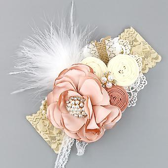 Headband Baby Wraps Photography Props Lace Elastic Hair Bands Pearl