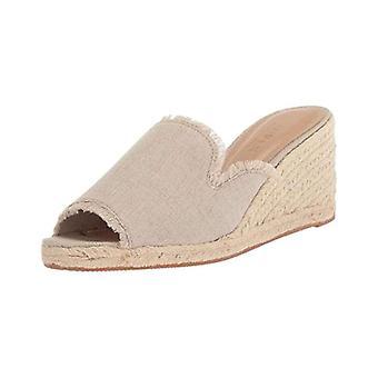 LAUREN Ralph Lauren naisten Carlynda kangas Peep Toe rento Platform sandaalit