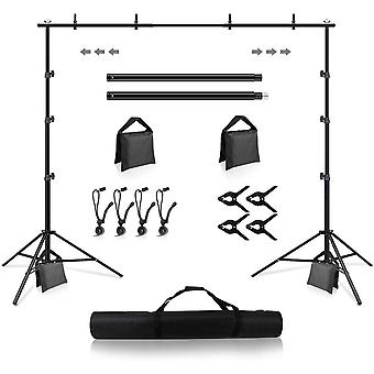 Backdrop Stand, DZK 8.5 x 10ft Background Stand Adjustable Photography Muslin Background Support