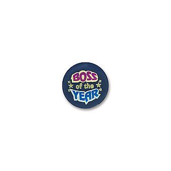Boss des Jahres Satin Button (Packung von 6)