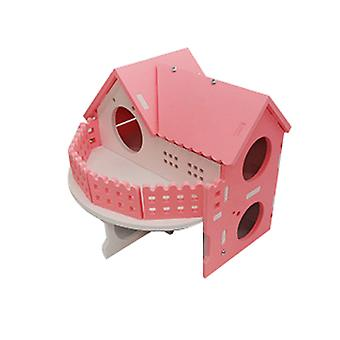 Hamster Golden Bear Luxury Double-storey Villa Large Ecological Board Wooden House