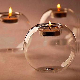 Scandinavische stijl ronde holle glazen kaars waxinelichthouder