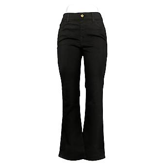 IMAN Global Chic Women's Jeans Illusion Pull-On Bootcut Black 734928001