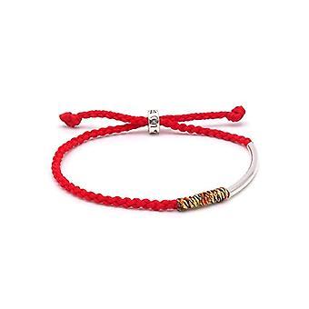 Benava, Tibetan friendship bracelet handmade Buddhist jewel, adjustable, red, silver, multicolored