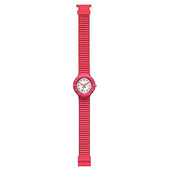 HIP HOP WOMEN'S WATCH NUMBERS COLLECTION dial WITH WHITE LOGO MOVEMENT ONLY TIME - 3H QUARTZ and SILICONE FUCHSIA Ref STRAP. 7612901704401