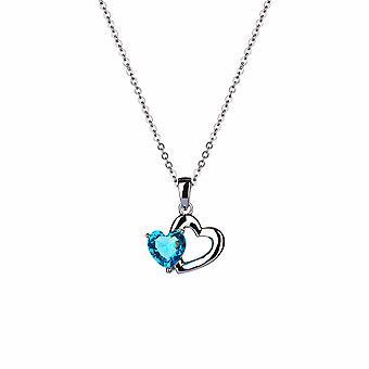 Avec Amour - Sweet Heart Icons Collier - Prolongateur 40cm +3cm - Bleu - Cadeaux bijoux pour femmes de Lu Bella
