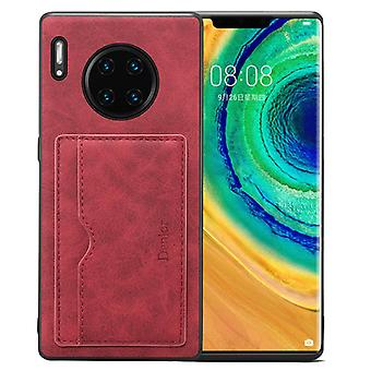 Wallet leather case card slot for iphone11pro max6.5 retro red on154