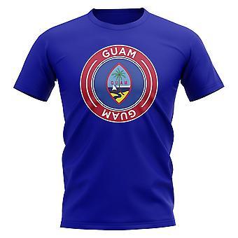 T-shirt Guam Football Badge (Royal)