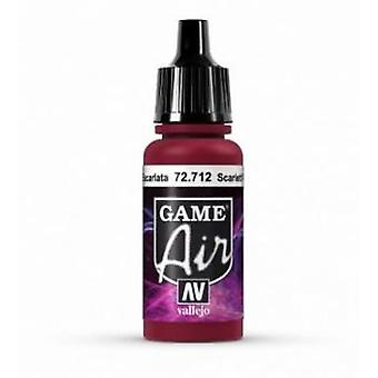 Vallejo Game Air 17ml Acrylic Airbrush Paint 72.712 Scarlett Red
