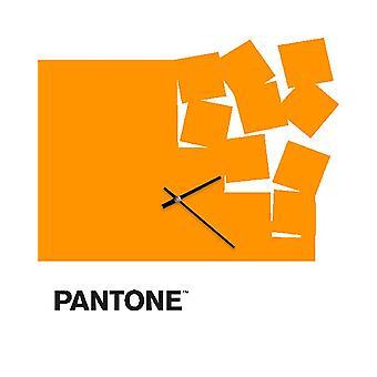 PANTONE Montre Fly Away Couleur Orange, Blanc, Noir, en Métal L40xP0,15xA40 cm