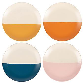 Keramische gedrenkte gevlekte dinerborden met patroon servies 20,5 cm 4 kleuren