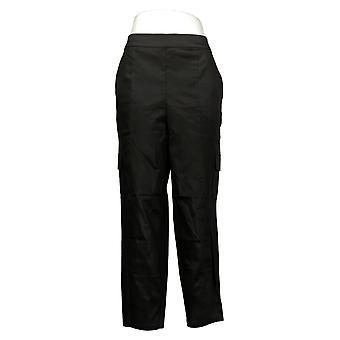 G Por Giuliana Pantalones de Mujer Tapered Utility Negro 732754