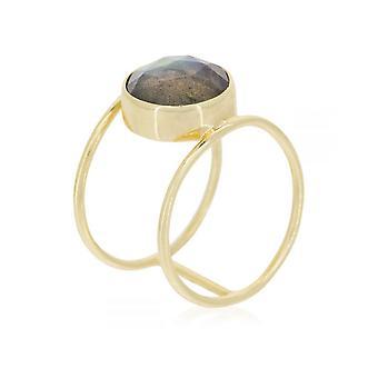 Anello d'oro 'Nicole'Labradorite