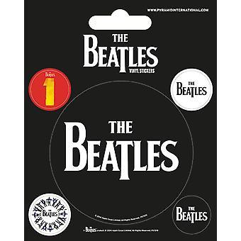 The Beatles - Zwarte Vinyl Sticker