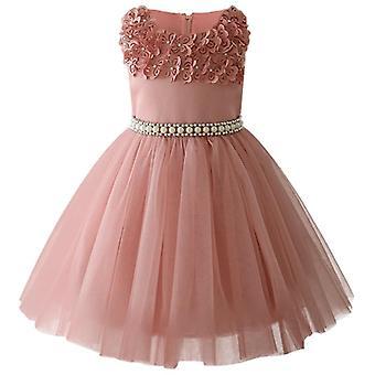 Маленький малыш Сатин, блеск бальное платье, Pageant платье для свадебного набора-5