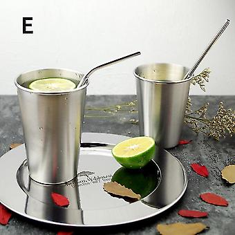500Ml without cover style e 304 stainless steel spray paint beer cup cold water drinks cup use gargle cup fa0815
