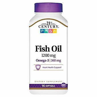 21. århundre fiskeolje, 1200 mg, 90 myke geleer
