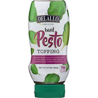 Delallo Sauce Pesto Basil, Case of 10 X 6.7 Oz