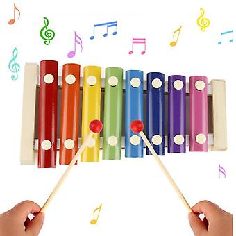 8 Note Xylophone coloré avec des maillets en bois