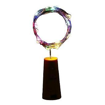 3Pcs multicolores 20led guirlande fil de cuivre corker cordes lumières de fées pour bouteille artisanale en verre az12127