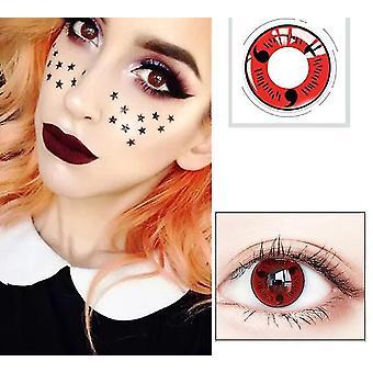 nye 3 1pair = 2pcs cosplay vakker stor elev linse for øye halloween fargekontakt sm48062