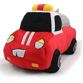 סימולציה ניידת משטרה צעצועים קטיפה, צעצועי בובת רכב לילדים, מתנות יום הולדת לבנים ובנות (אדום)