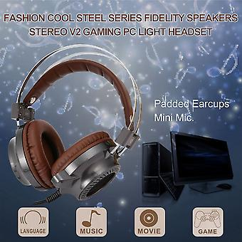 Mode Cool Steel Series Fidelity Högtalare Stereo V2 Gaming Pc Light Headset