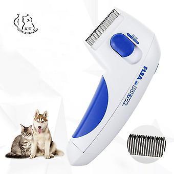 Pet Elektromos bolha fésű Macska Kutya Fésű Bolhák Kullancsok Grooming eltávolítása Eszközök