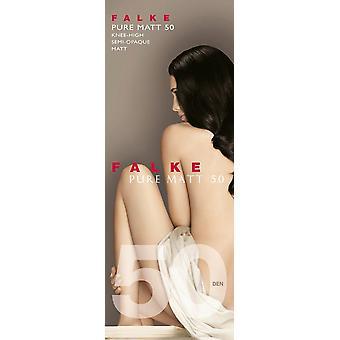 Falke Pure Matte 50 Den Knee High Panty ' s - Barolo Burgundy