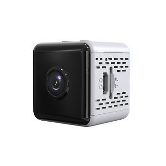 كاميرا تجسس مصغرة مع قاعدة، وكاميرا مراقبة واي فاي، كامل HD 1080P كاميرا تجسس لاسلكية مخبأة مربية الحركة مع الرؤية الليلية وكاشف الحركة، في الهواء الطلق / كاميرا داخلية (أبيض)