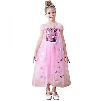 Frozen Aisha Princess Dress With Wig, Crown, Cane, Glove Accessories, Suitable For Halloween, Christmas, Etc.