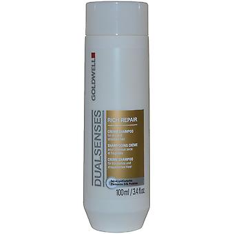 DualSenses av Goldwell Cream Shampoo Rich Repair 100ml för torrt och stressat hår