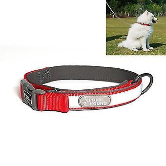 Tuffhound 1427 Nylon + Tauchboot + Reflektorstange Verstellbares Hundehalsband, einstellbarer Bereich: