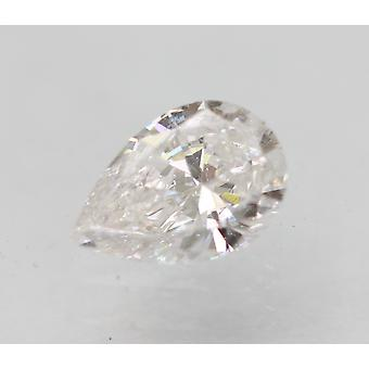 Certified 0.29 Carat E Color VVS2 Pear Enhanced Natural Loose Diamond 5.63x3.87m