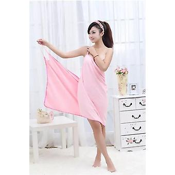 Multi-functional Towel Women Bath Robes Wearable Towel Dress