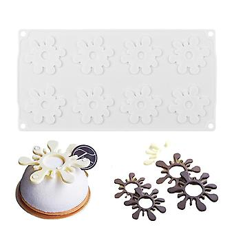 Flower Shaped Silicone Chocolate Mold For Cake Decorating, French Dessert, Diy, Baking Tools