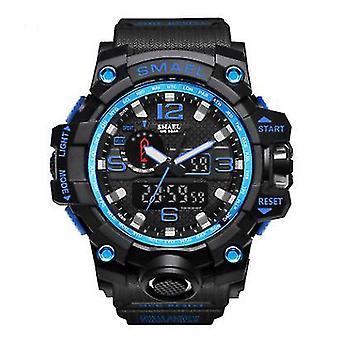 Kamuflaż modny cyfrowy zegarek sportowy (czarny niebieski)