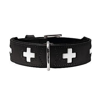 Swiss Organic Leather Collar, XX-Large, Black