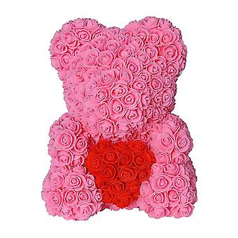 35Cm 25cm hot valentines day gift red rose teddy bear rose flower artificial decoration christmas gifts women valentines gift