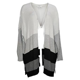 Skinny Girl Women's Sweater Plus Sundazed Mouj Cardigan Gray 730573
