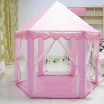 אוהל טירת נסיכה נייד מקורה חיצונית עם כוכב LED אורות ילדים פעילות בית משחקים