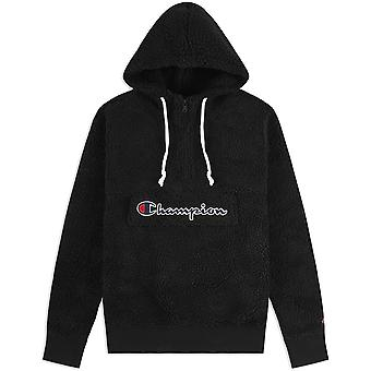 Champion Half Zip Top Fleece Hoodie 214978KK001NBK universel toute l'année sweat-shirts homme