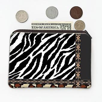 Gift Coin Purse: Zebra Jaguar Animal Print Fashion Wild