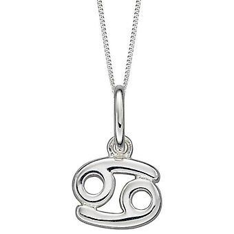 Anfänge Krebs Zodiac Halskette - Silber
