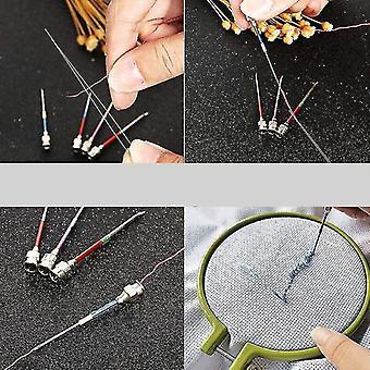 Naaimanden kits 15 delig metalen borduurwerk stiksels ponsnaalden set