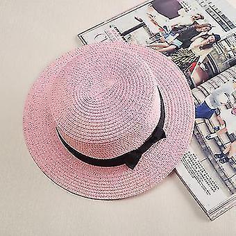Damen Panama Sommer Strandmütze (56-58cm)(Pink 1)