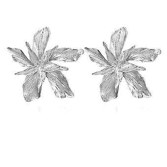 Eleganz Gold große Blume baumeln Ohrringe für Frauen (Silber)