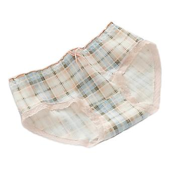 Two Sets Of Plaid Small Fresh Cotton Underwear