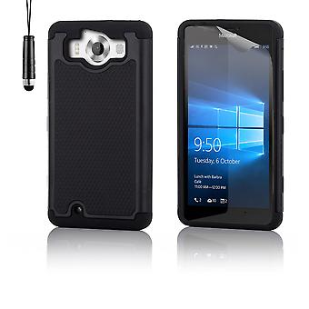 Coffret preuve anti-choc + stylet pour Microsoft Lumia 950XL - noir